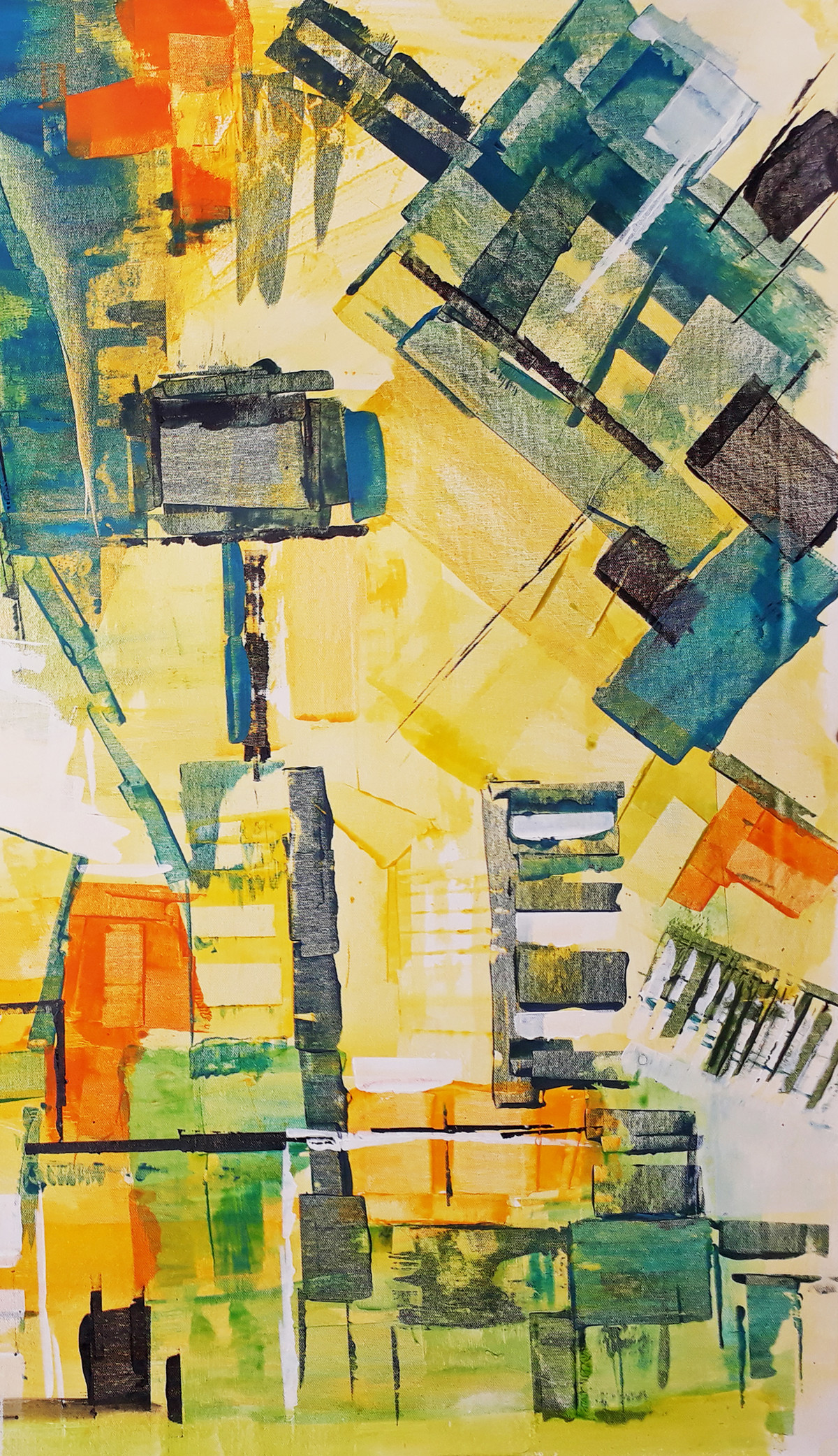 The City 2 Digital Print by A.R.Ramesh,Abstract