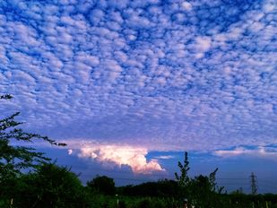 Waves in Sky by Malay, Image Photography, Digital Print on Archival Paper, Blue color