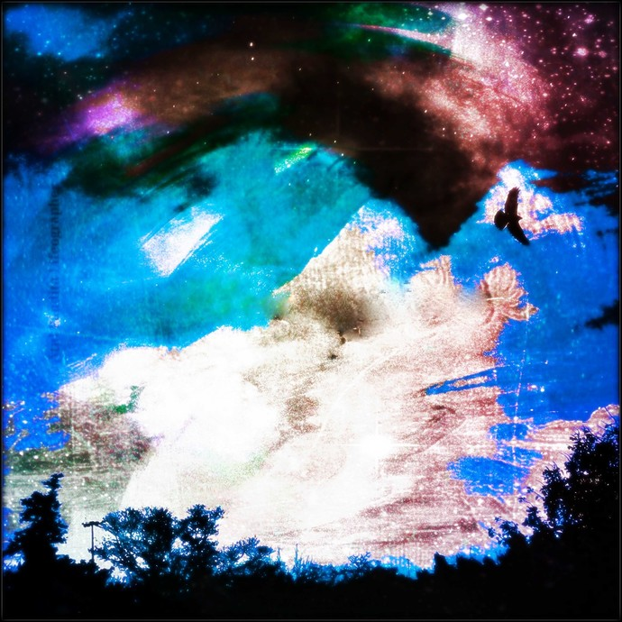 Pratibimb: Outlander by Atul Pandita , Digital Digital Art, Digital Print on Canvas, Blue color