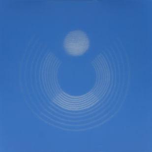 """29,Untitled,SB,2019 by Shobha Broota, Minimalism Painting, Oil on Canvas, Blue color"