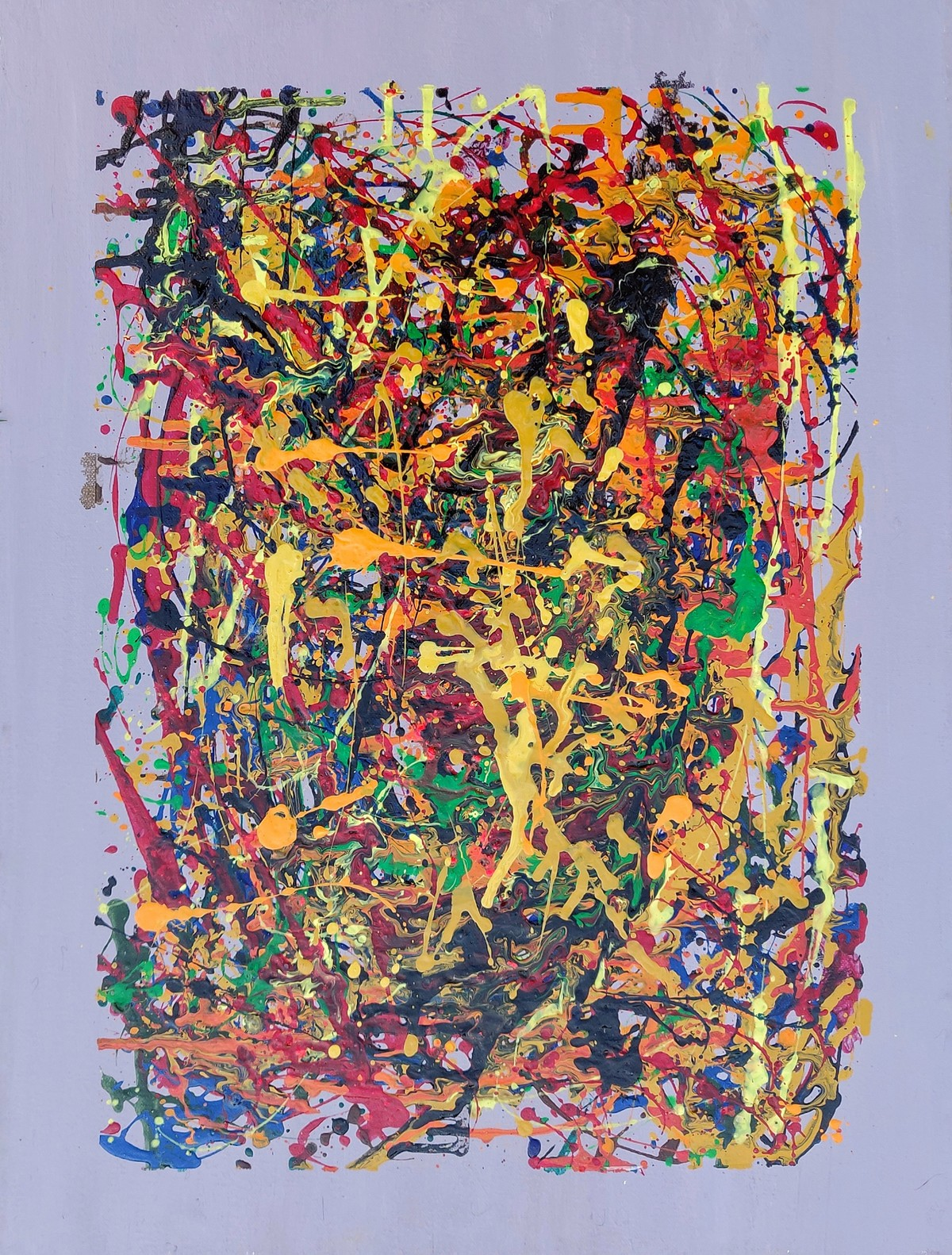 Chaos by RUBPREET KAUR, Abstract Painting, Acrylic on Canvas, Brown color