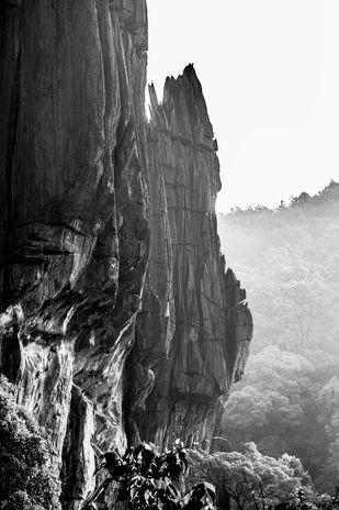 Karst Rock Formations of Yana by Vishnuprasad R Jahagirdar, Image Photography, Print on Canvas, Gray color