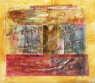 Untitled #1 by Ishwar Gurung, Abstract Painting, Mixed Media on Paper, Brown color