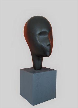 Dreamer black by Vernika, Art Deco Sculpture | 3D, Metal, Gray color
