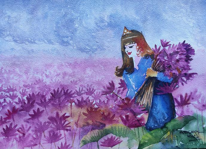 Princess of Pink Digital Print by Mopasang Valath,Fantasy