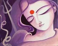 Shakthi Digital Print by Uma Makala,Traditional