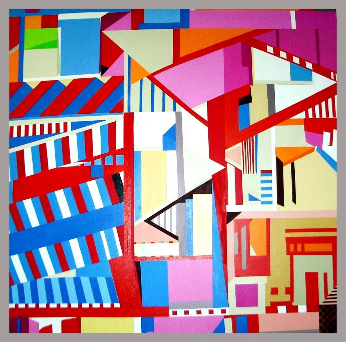 Cityscape IV Digital Print by Ritu Aggarwal,Geometrical