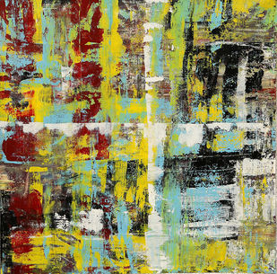 Annapurna by Karan Meral, Abstract Painting, Acrylic on Canvas, Beige color
