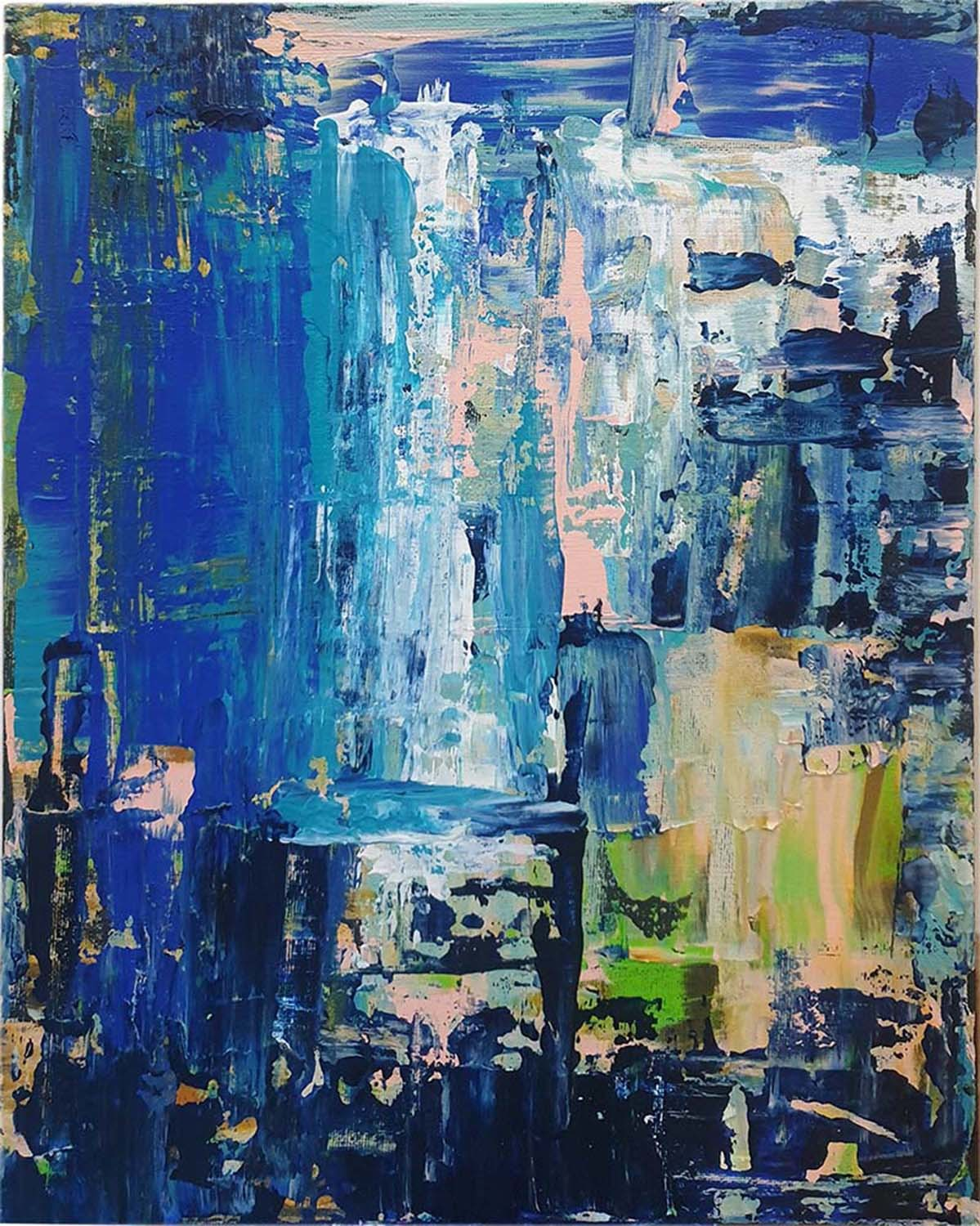 nature by Trpti Malhotra, Abstract Painting, Acrylic on Canvas, Blue color