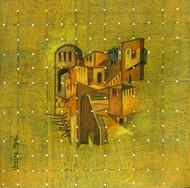 Flight of Fantasy 07 by Vijaylaxmi D Mer, Fantasy Painting, Mixed Media on Canvas, Green color