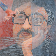 Thinker-II by Rupatan Naskar, Expressionism Painting, Acrylic on Canvas, Brown color