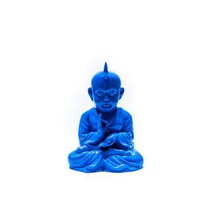 punk $ Monk Blue by Sanuj Birla, Art Deco Sculpture | 3D, Fiber Glass, White color