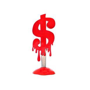 Melting Dollar Popsicle Red by Sanuj Birla, Art Deco Sculpture | 3D, Fiber Glass, White color