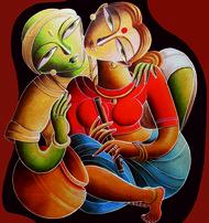 Lila Digital Print by Dhananjay Mukherjee,Traditional