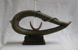 UNTITLED by Prakash Patidar, Art Deco Sculpture | 3D, Brass, Gray color