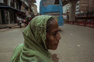 Middle-of-the-road by Soumyabrata Roy, Image Photography, Digital Print on Paper, Brown color