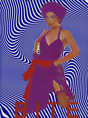 Celebrity Magazine Cover: Black Magic Woman by Anita Saran, Digital Digital Art, Digital Print on Paper, Blue color