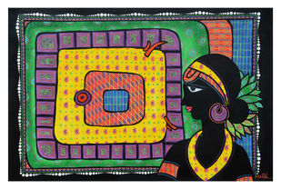 Untitled by Sheetal Chitlangiya, Decorative Painting, Acrylic on Canvas, Green color