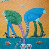 36x48 inch acrylic on canvas