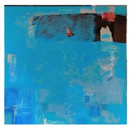 In the Light of Things Blue 2020 by Murali Sivaramakrishnan, Abstract Painting, Acrylic on Canvas, Blue color