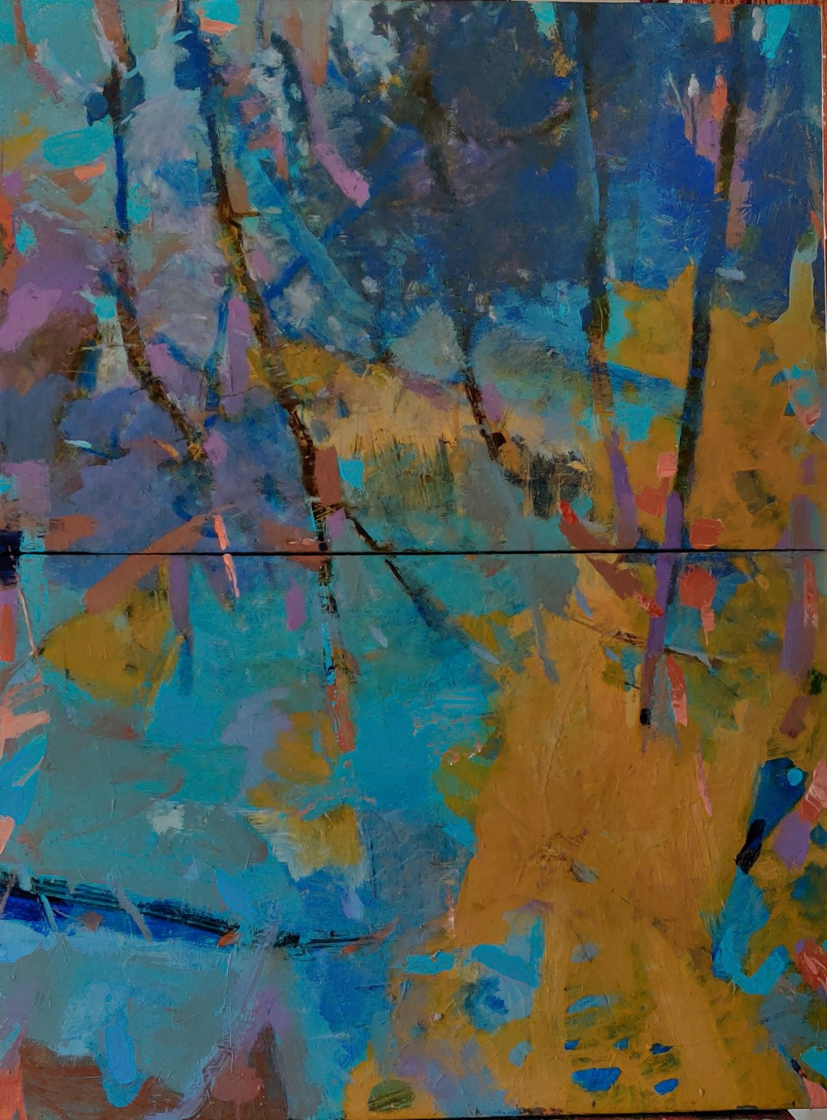 Belonging to Earth by Murali Sivaramakrishnan, Abstract Painting, Acrylic on Canvas, Green color