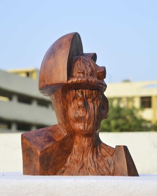 THE SERIES OF PROLETARIAT -1 by ABHISHEK MANDALA, Art Deco Sculpture | 3D, Terracotta, Shingle Fawn color