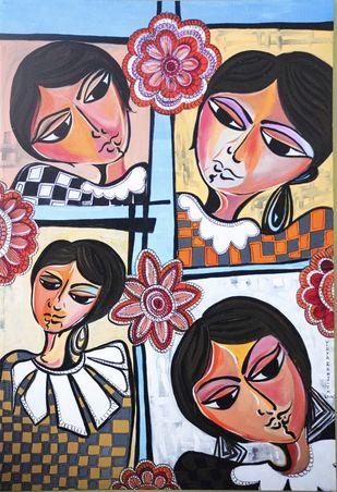Matilda by Vidya Ranjith, Expressionism Painting, Acrylic on Canvas,