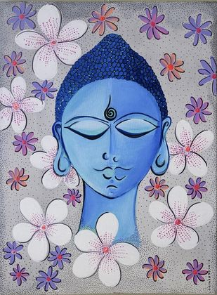 Bliss by Vidya Ranjith, Expressionism Painting, Acrylic on Canvas,