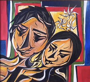Love by Vidya Ranjith, Expressionism Painting, Acrylic on Canvas,