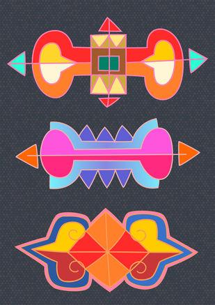 Color Harmony by KS Guruprasad, Digital Digital Art, Digital Print on Archival Paper, Blue color