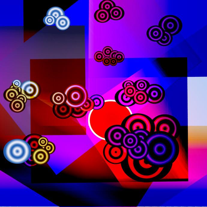 Dawn of cloud9 by Arvind A, Digital Digital Art, Digital Print on Paper, Blue color