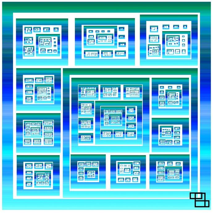 box of infinity by Arvind A, Digital Digital Art, Digital Print on Paper, Cyan color