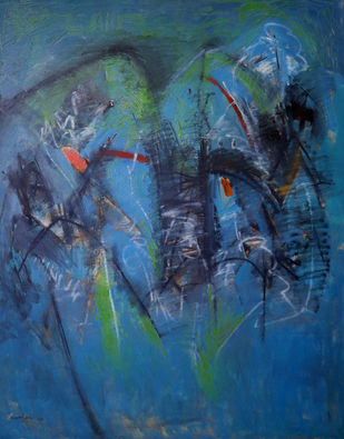 untitled by mahesh nirantare, Abstract Painting, Oil on Canvas,