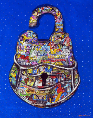 lockdown 2 by Arun K Mishra, Expressionism Painting, Acrylic on Canvas,