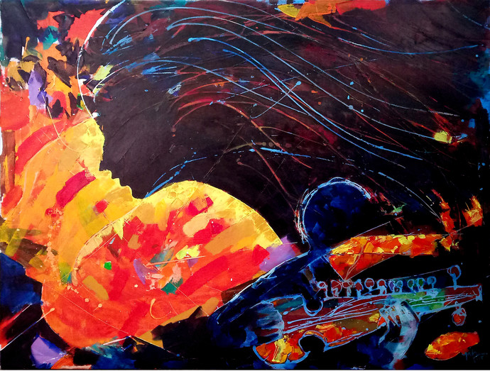The legacy left behind by Mahvash Masood, Abstract Painting, Acrylic on Canvas,