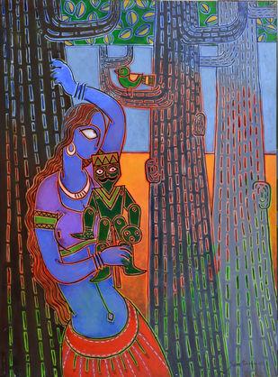 I am not lonely Digital Print by Santanu Nandan Dinda,Expressionism