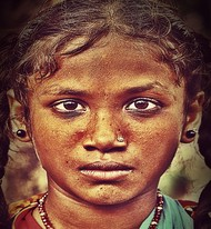 Street Child by Atul Pandita , Digital Photography, Digital Print on Paper, Quincy color
