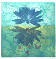 In my Womb by Kavita Nayar , Expressionism Printmaking, Etching on Paper, Polished Pine color