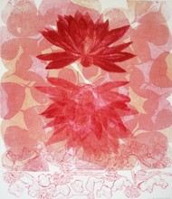 Born again & again by Kavita Nayar , Expressionism Printmaking, Etching on Paper, New York Pink color