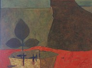 Tribal life by Umesh Bhoi, Expressionism Painting, Oil on Canvas, Kabul color