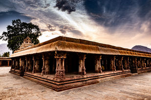 Rays Behind The Temple by Sayandeep Nag, Image Photography, Digital Print on Paper,