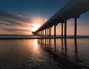 Bridge to Sunset by Sayandeep Nag, Image Photography, Print on Paper,