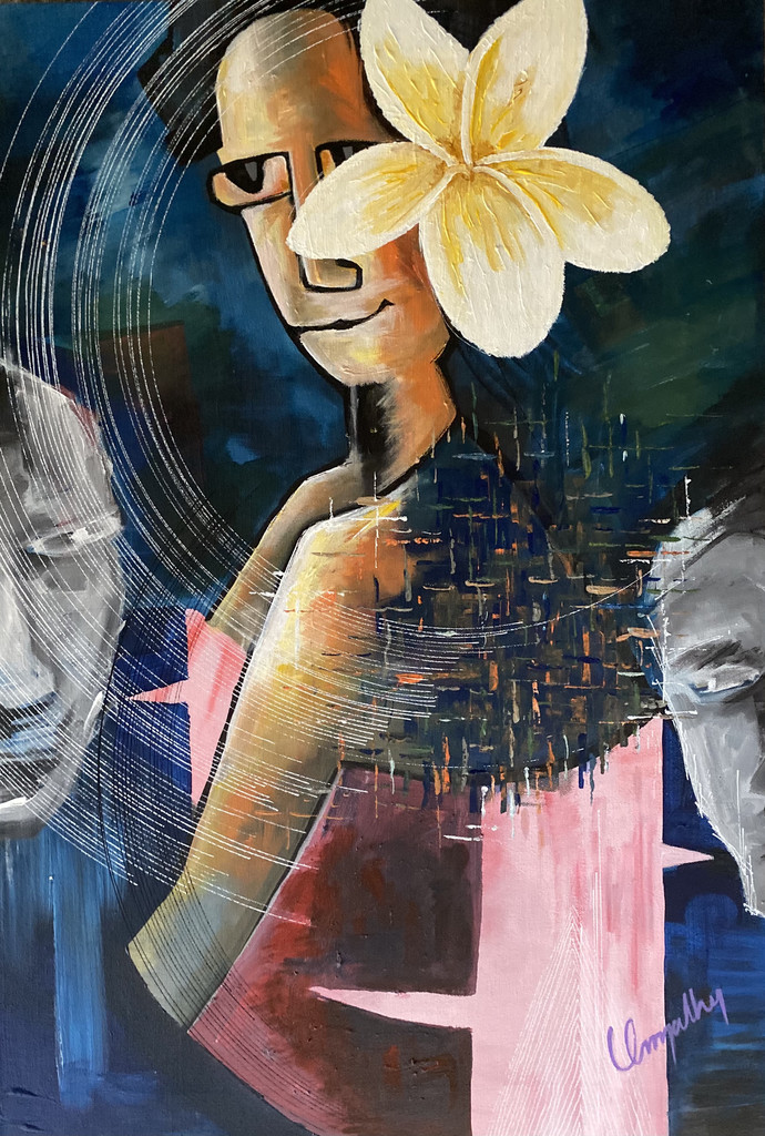 Trans Beauty by Umapathy, Expressionism Painting, Acrylic on Canvas,