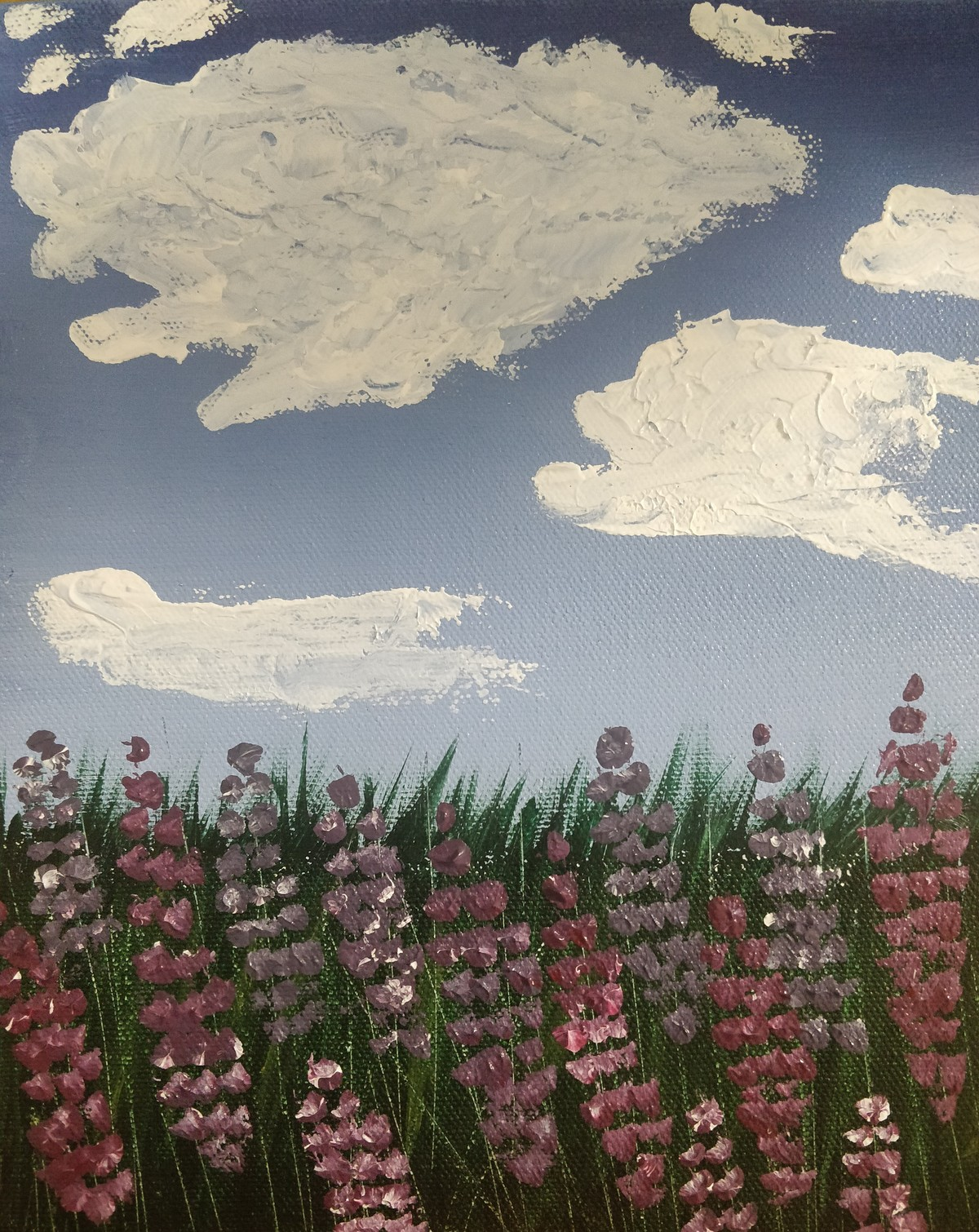 Lavender Field By Artist Gitika Singh Expressionism Painting Mojarto 277253