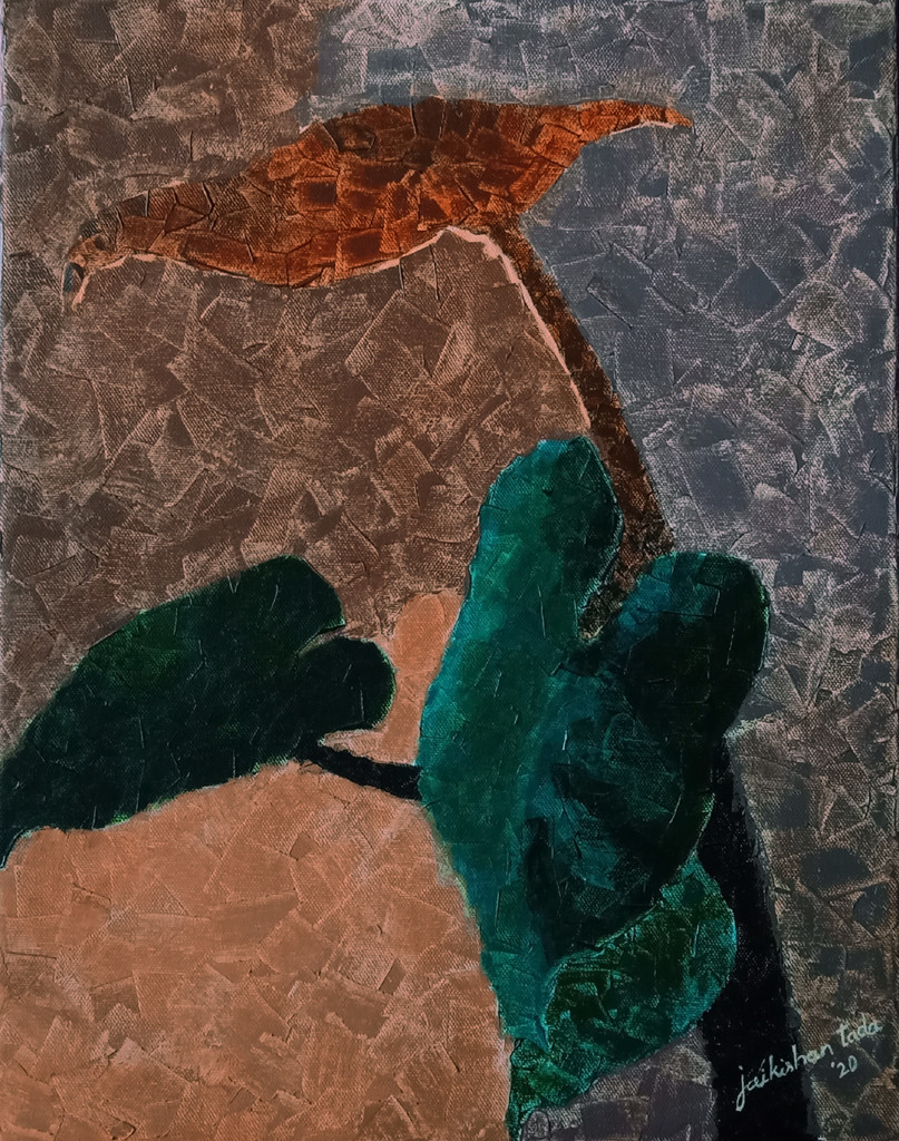 Unlocked hues in Lockdown by Jaikishan Tada, Abstract Painting, Acrylic on Canvas, Merlin color