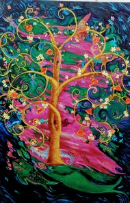 Tales-4 by Parul Bali Chopra, Expressionism Painting, Oil on Canvas,