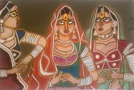 Behind the scene by Parul Aggarwal, Expressionism Painting, Acrylic on Paper, Tobacco Brown color