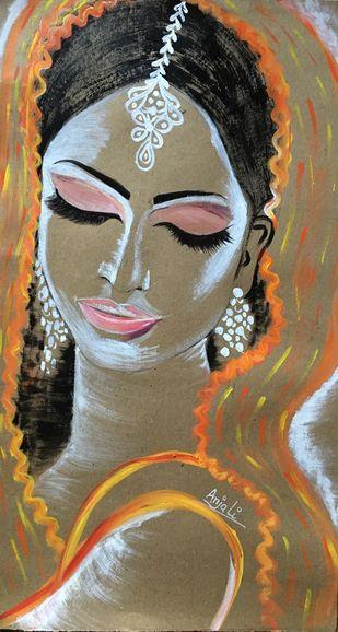Bride Digital Print by Anjali mittal,Expressionism