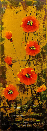 Abstract flowers by Pradeep P, Expressionism Painting, Acrylic on Canvas, Graphite color