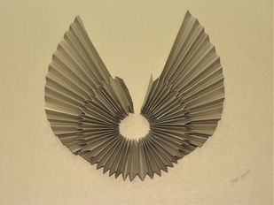 Spreading Happiness by Asha Gulati, Art Deco Sculpture | 3D, Hand Cut Paper, Sorrell Brown color